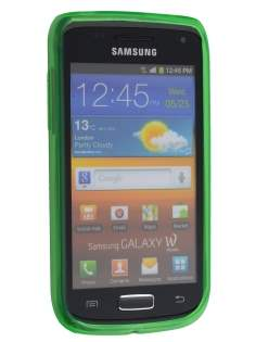 Samsung Galaxy W I8150 Frosted TPU Case - Lime Green