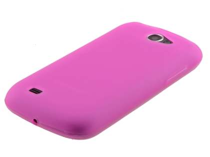 Samsung Galaxy W I8150 Frosted TPU Case - Hot Pink