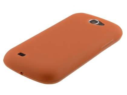 Frosted TPU Case for Samsung Galaxy W I8150 - Burned Orange