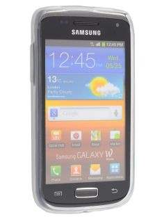 Samsung Galaxy W I8150 Frosted TPU Case - Frosted Clear