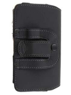 Sony Xperia go ST27i Synthetic Leather Belt Pouch (Naked Phone Only)