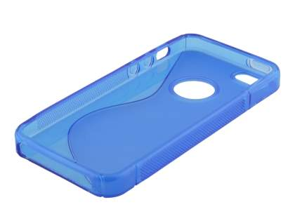 Wave Case for iPhone SE/5s/5 - Frosted Blue/Blue