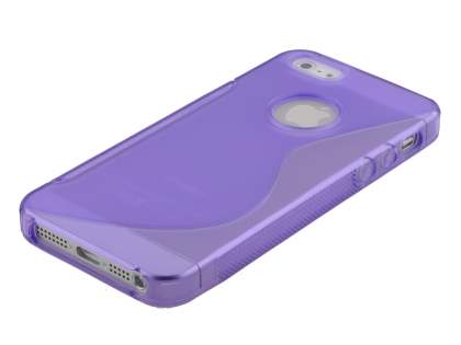 Wave Case for iPhone SE/5s/5 - Frosted Purple/Purple