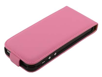 iPhone SE/5s/5 Slim Synthetic Leather Flip Case - Pink