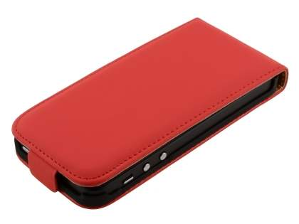iPhone SE/5s/5 Slim Synthetic Leather Flip Case - Red