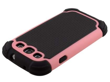 Samsung I9300 Galaxy S3 Impact Case - Baby Pink/Classic Black