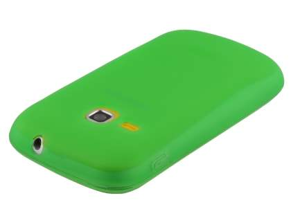 Frosted Colour TPU Gel Case for Samsung Galaxy mini 2 S6500 - Green