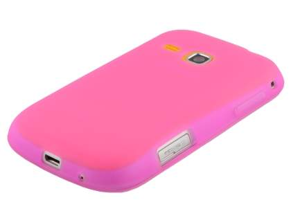 Frosted Colour TPU Gel Case for Samsung Galaxy mini 2 S6500 - Baby Pink