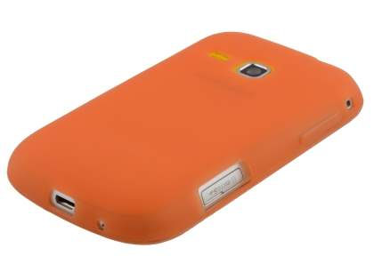Samsung Galaxy mini 2 S6500 Frosted Colour TPU Gel Case - Burnt Orange