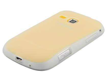 Samsung Galaxy mini 2 S6500 Frosted Colour TPU Gel Case - Clear