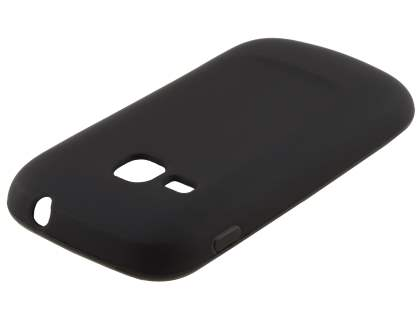 Frosted Colour TPU Gel Case for Samsung Galaxy mini 2 S6500 - black