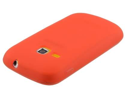 Samsung Galaxy mini 2 S6500 Frosted Colour TPU Gel Case - Sunset-Orange