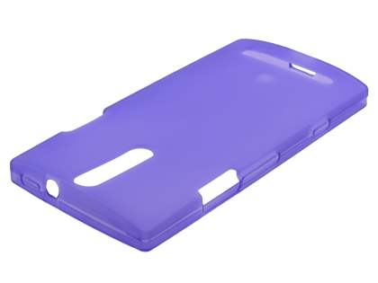 Sony Xperia S LT26i Frosted TPU Case - Lavender Purple