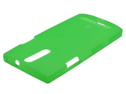 Frosted TPU Case for Sony Xperia S LT26i - Green