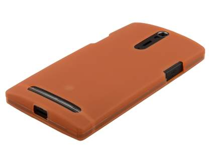 Frosted TPU Case for Sony Xperia S LT26i - Orange