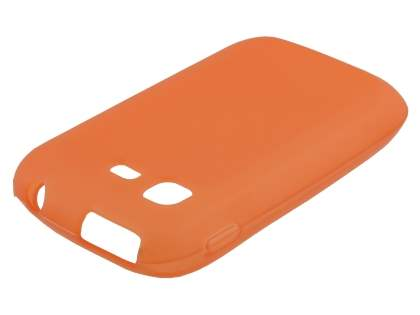 Frosted TPU Case for Samsung Galaxy Pocket S5300 - Burnt Orange