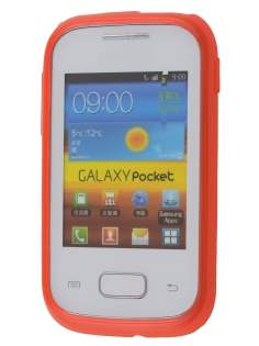 Frosted TPU Case for Samsung Galaxy Pocket S5300 - Orange sunset