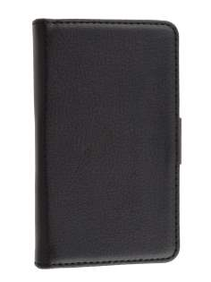 Synthetic Leather Wallet Case with Stand for LG Optimus L5 E610 - Black
