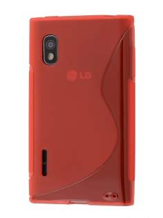 Wave Case for LG Optimus L5 E610 - Frosted Red/Red Soft Cover
