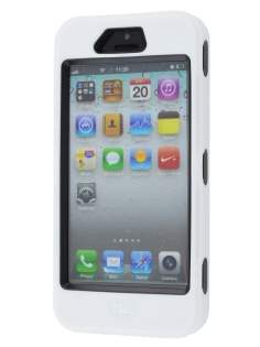 Apple iPhone 5 only Defender Case - White/Black