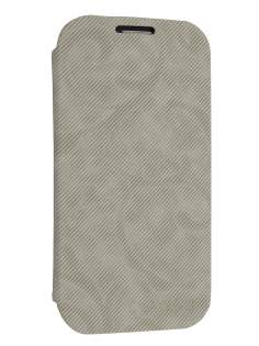 Premium Book-Style Slim Flip Cover for Samsung I9300 Galaxy S3 - Light Grey