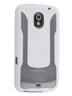 COCASES Dual-Design Case plus Screen Protector for Samsung I9250 Galaxy Nexus - White
