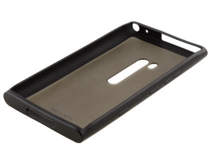 COCASES Dual-Design Case plus Screen Protector for Nokia Lumia 900 - Black/Clear