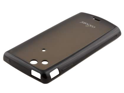 COCASES Dual-Design Case plus Screen Protector for Sony Ericsson XPERIA Arc/Arc S - White/Clear