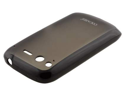 COCASES Dual-Design Case plus Screen Protector for HTC Desire S - Black/Clear