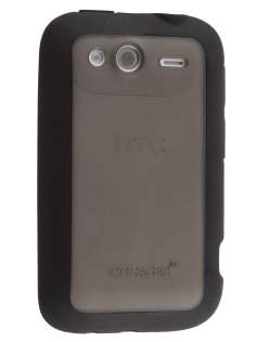 COCASES Dual-Design Case for HTC Wildfire S - Black/Clear Dual-Design Case