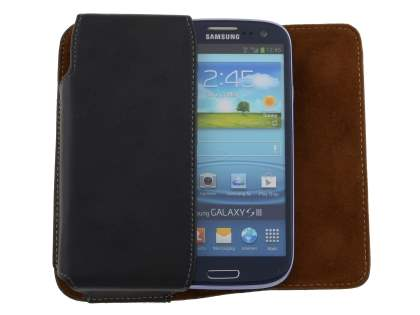Extra-tough Genuine Leather ShineColours belt pouch for Samsung Galaxy S3/S4