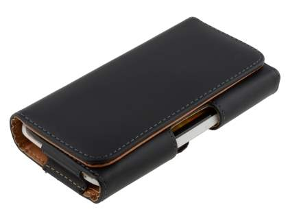 Smooth Synthetic Leather Belt Pouch for HTC One X / XL / X+