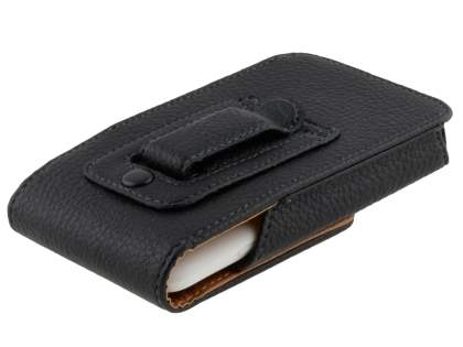 Textured Synthetic Leather Vertical Belt Pouch for HTC One X / XL / X+