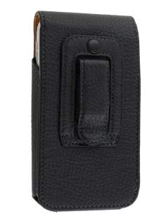 Textured Synthetic Leather Vertical Belt Pouch for HTC Sensation XL
