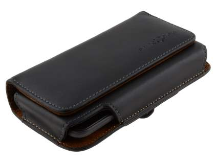 Extra-tough Genuine Leather ShineColours belt pouch for HTC Titan
