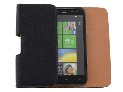 Textured Synthetic Leather Belt Pouch for HTC Titan