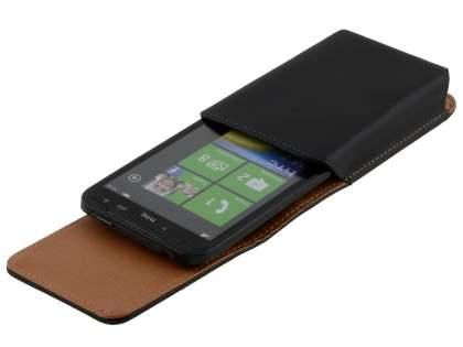 Smooth Synthetic Leather Vertical Belt Pouch for HTC Titan