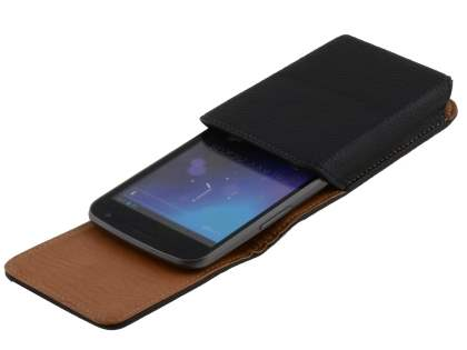 Textured Synthetic Leather Vertical Belt Pouch for Samsung I9250 Google Galaxy Nexus