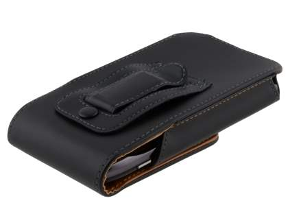 Smooth Synthetic Leather Vertical Belt Pouch for Motorola RAZR