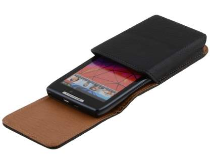 Textured Synthetic Leather Vertical Belt Pouch for Motorola RAZR