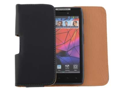 Smooth Synthetic Leather Belt Pouch for Motorola RAZR
