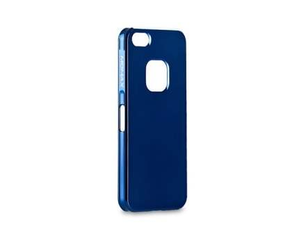 MOMAX Ultra-Thin Metallic Case for iPhone SE/5s/5 - Metallic Blue Hard Case