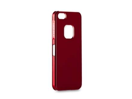 MOMAX Ultra-Thin Metallic Case for iPhone SE/5s/5 - Metallic Red Hard Case