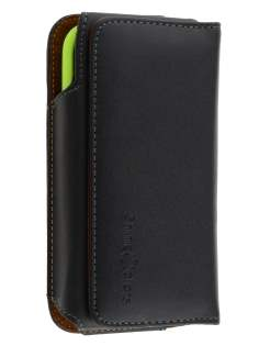 Extra-tough Genuine Leather ShineColours belt pouch (Bumper Case Compatible) for HTC One S - Belt Pouch