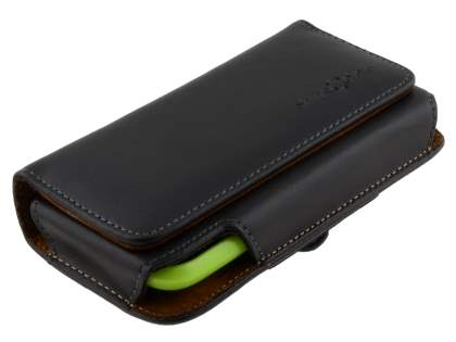 Extra-tough Genuine Leather ShineColours belt pouch (Bumper Case Compatible) for HTC One S