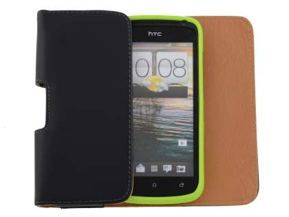 Smooth Synthetic Leather Belt Pouch (Bumper Case Compatible) for HTC One S