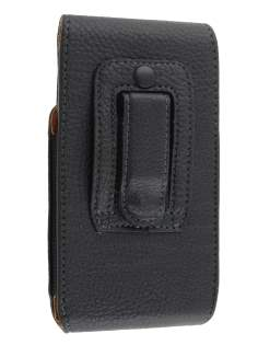 Textured Synthetic Leather Vertical Belt Pouch (Bumper Case Compatible) for HTC One S