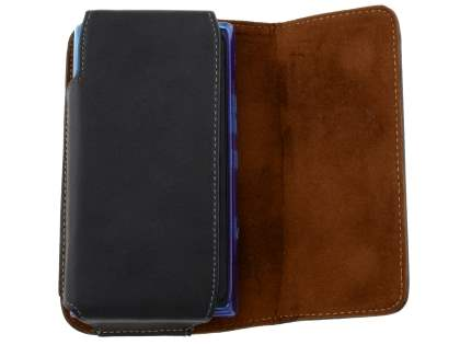 Extra-tough Genuine Leather ShineColours belt pouch (Bumper Case Compatible) for Nokia Lumia 900