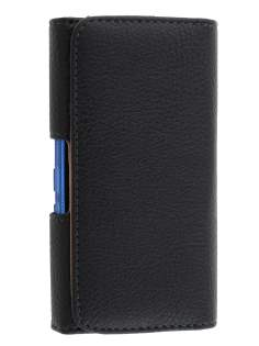 Textured Synthetic Leather Belt Pouch (Bumper Case Compatible) for Nokia Lumia 900