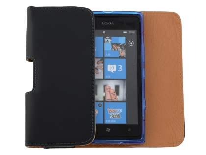 Smooth Synthetic Leather Belt Pouch (Bumper Case Compatible) for Nokia Lumia 900